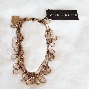 🍁Anne Klein NWT Rose Gold Layered Charm Bracelet